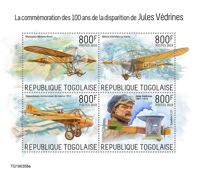 Jules Védrines - Issue of Togo postage stamps