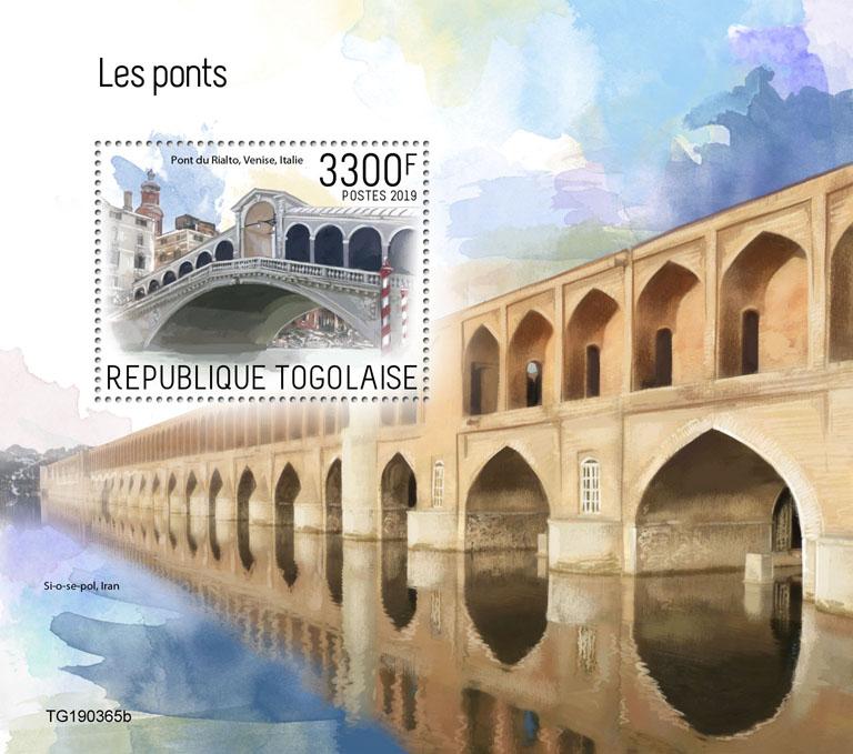 Bridges - Issue of Togo postage stamps