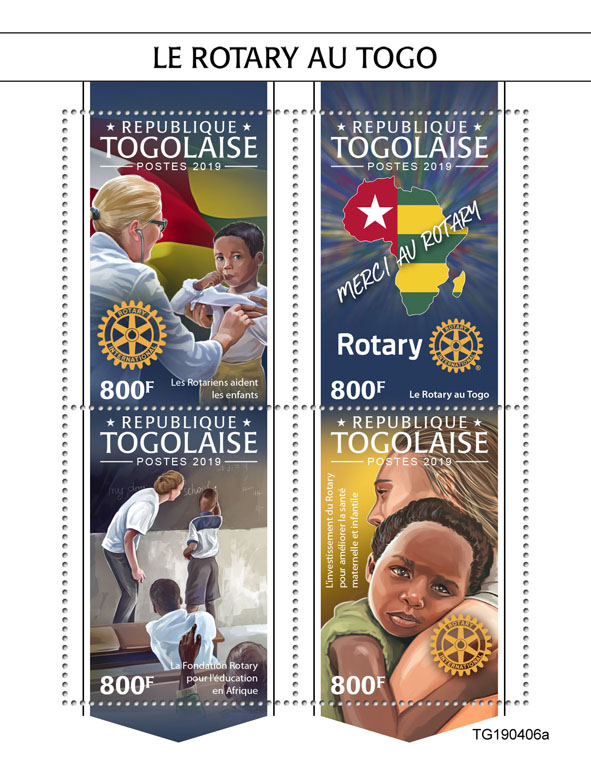 Rotary in Togo - Issue of Togo postage stamps