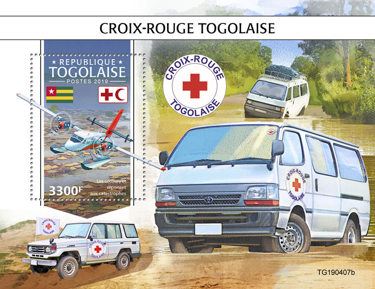 Togolese Red Cross - Issue of Togo postage stamps