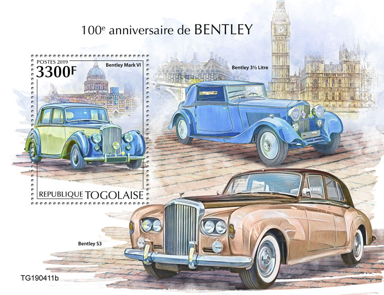 Bentley - Issue of Togo postage stamps