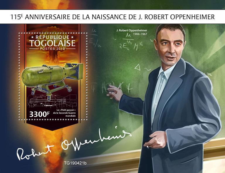 J. Robert Oppenheimer - Issue of Togo postage stamps