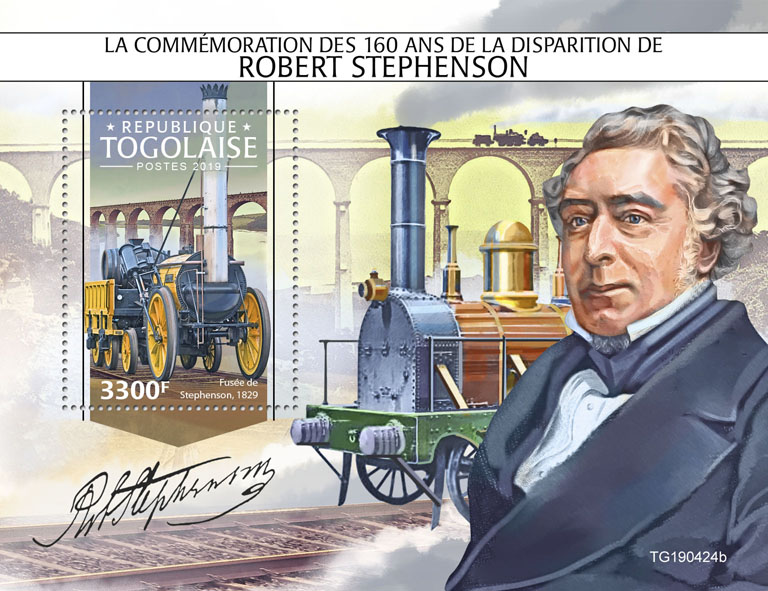 Robert Stephenson - Issue of Togo postage stamps