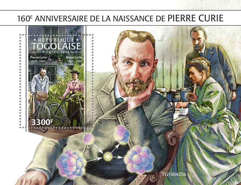 Pierre Curie  - Issue of Togo postage stamps