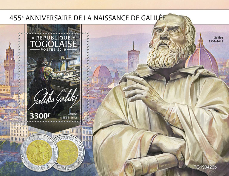 Galileo Galilei - Issue of Togo postage stamps