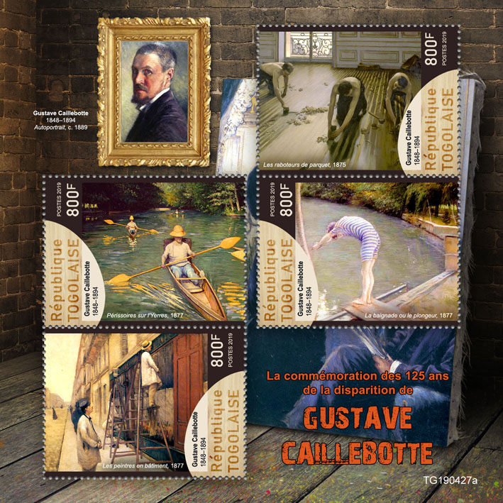 Gustave Caillebotte  - Issue of Togo postage stamps