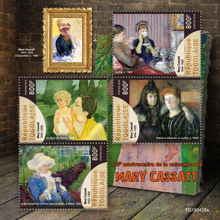Marry Cassatt - Issue of Togo postage stamps