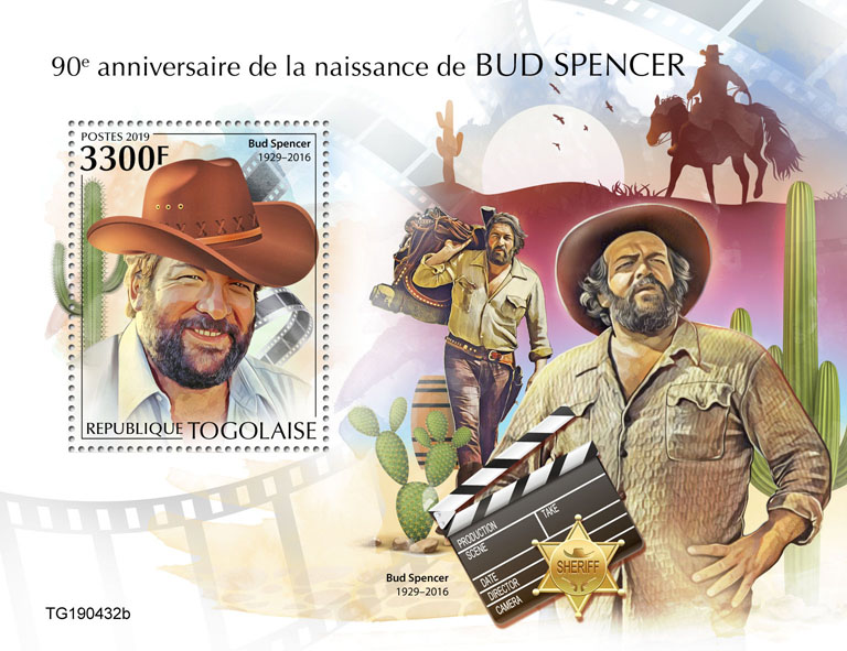 Bud Spencer - Issue of Togo postage stamps