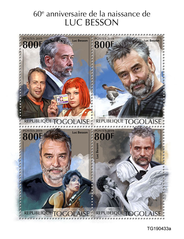Luc Besson - Issue of Togo postage stamps