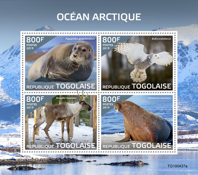 Arctic Ocean - Issue of Togo postage stamps
