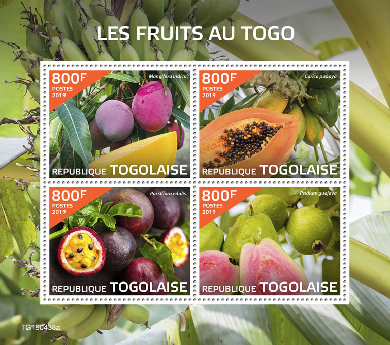 Fruits in Togo - Issue of Togo postage stamps