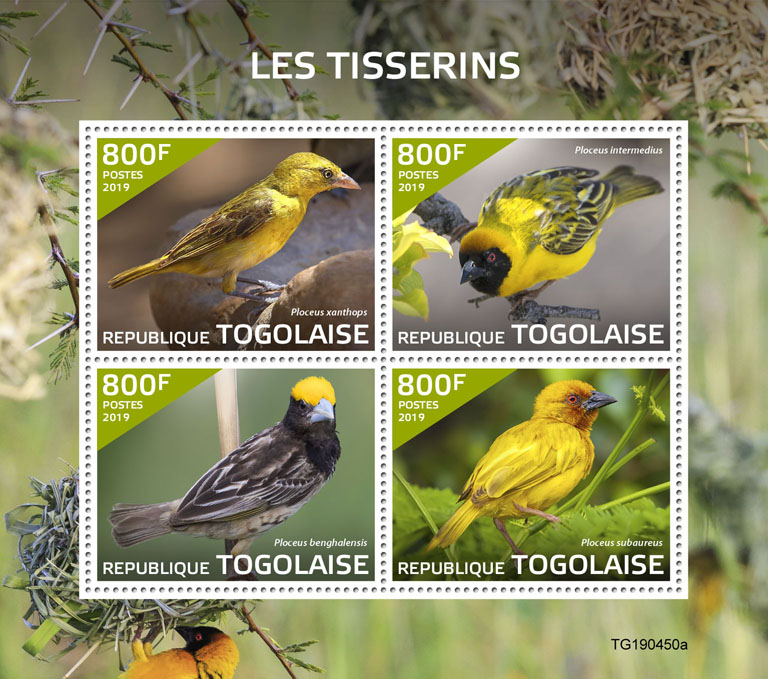 Weavers - Issue of Togo postage stamps