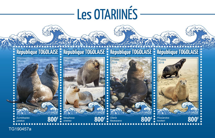 Sea lions - Issue of Togo postage stamps