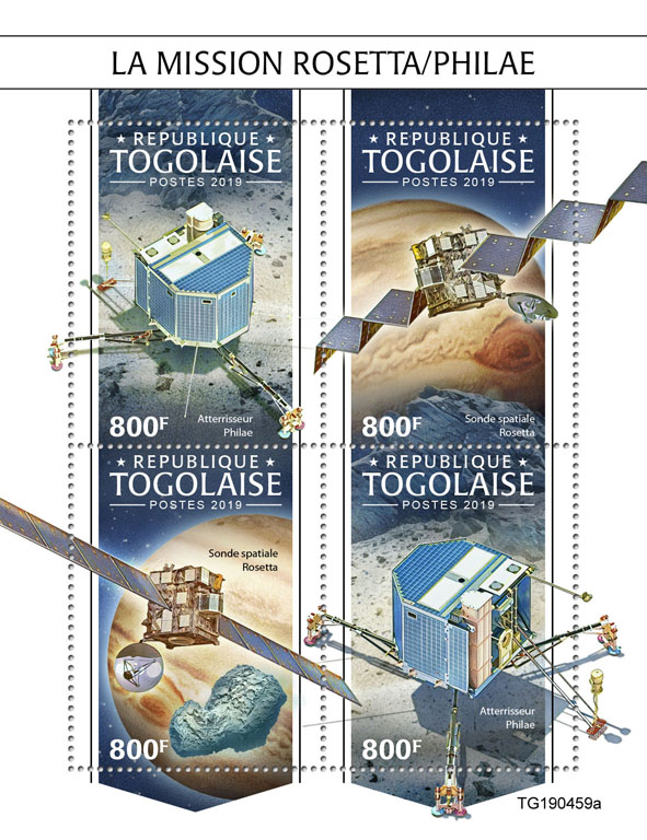 Rosetta/Philae mission - Issue of Togo postage stamps