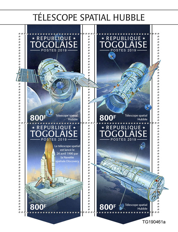 Hubble Space Telescope - Issue of Togo postage stamps