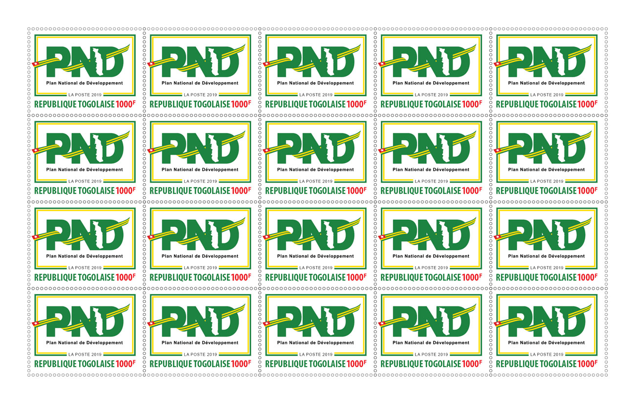 PND 20v - Issue of Togo postage stamps
